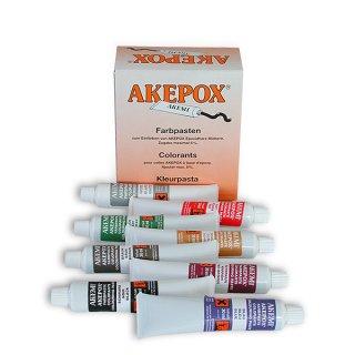Akemi Farbpaste Akepox / ROTBRAUN / 30 ml Tube