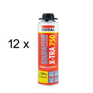 SOUDAL Soudafoam GUN / X-Tra 750 SET / 12 x 500 ml