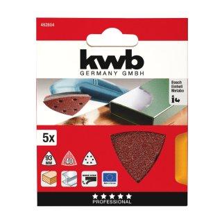 kwb Schleifdreieck / Quick-Stick / Holz & Metall / 96 mm / 80
