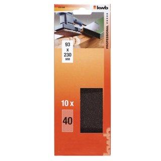 kwb Schleifstreifen / Holz & Metall / 10 Streifen / 93 x 230mm / 120