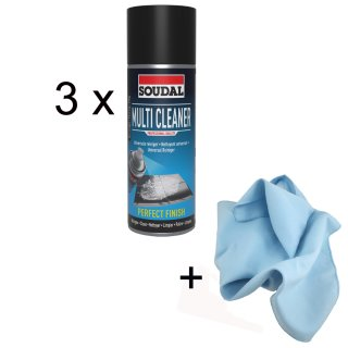 Soudal Multi Cleaner / Set  3 Dosen + Microfasertuch
