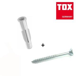 TOX Allzweckdübel Trika plus Schraube 10/61 / 4 Stück