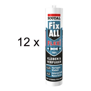 SOUDAL Fix All FLEXI / BRAUN / 12 x 470 g Kartusche